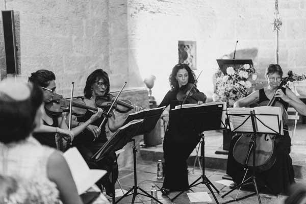 chanteuse lyrique mariage aria quatuor à cordes