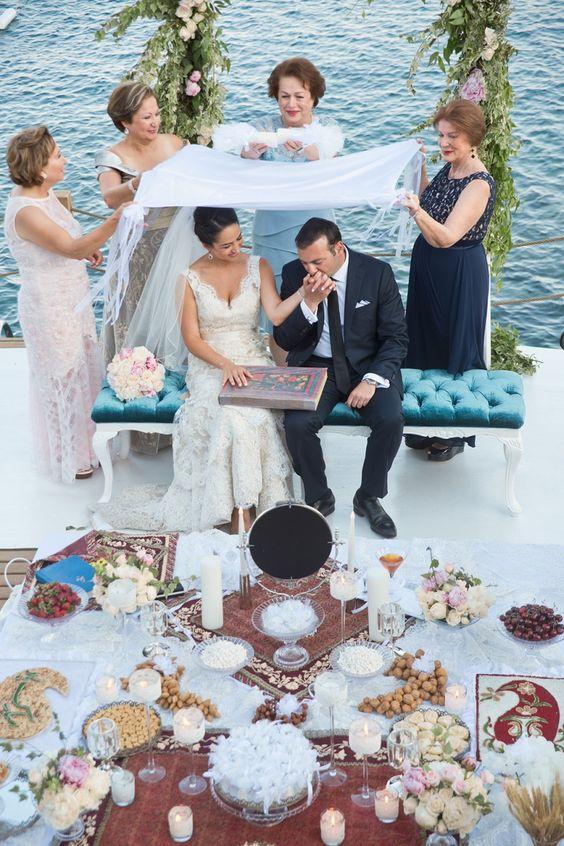 rituel du Sofreh Aghd ceremonie de mariage persan aria inspiration laique