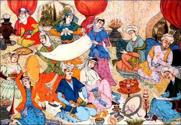 rituel du Sofreh Aghd mariage persan aria ceremonie laique