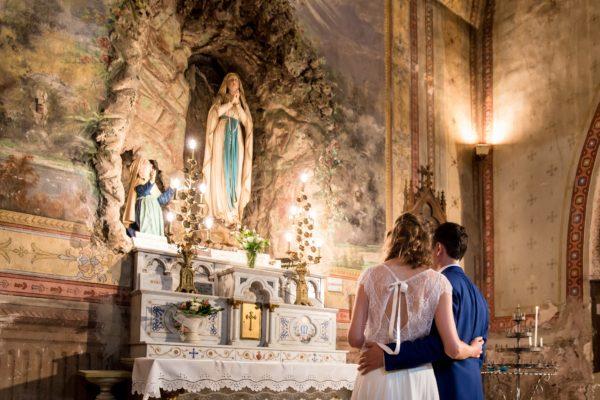 aria rituel bouquet à la vierge messe mariage catholique ceremonie église