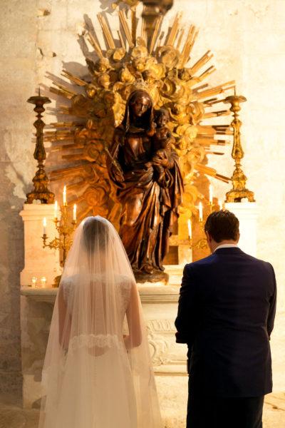 rituel du bouquet à la vierge aria mariage église