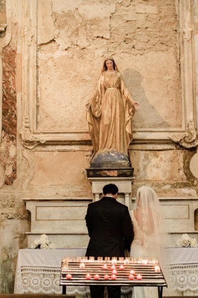 rituel bouquet vierge messe mariage catholique mariage aria