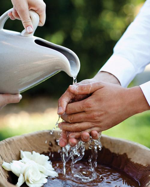aria rituel purification lavage des mains ceremonie mariage laique