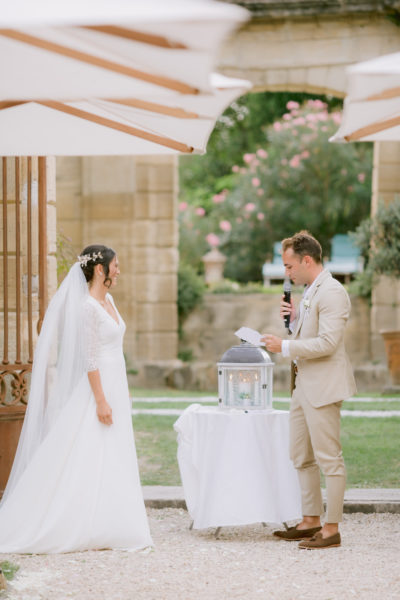 aria wedding ceremony unity candle officiant celebrant france