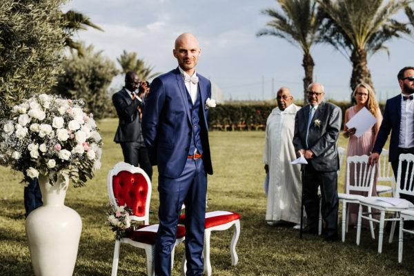 aria cérémonie mariage laïque marrakech officiant marié