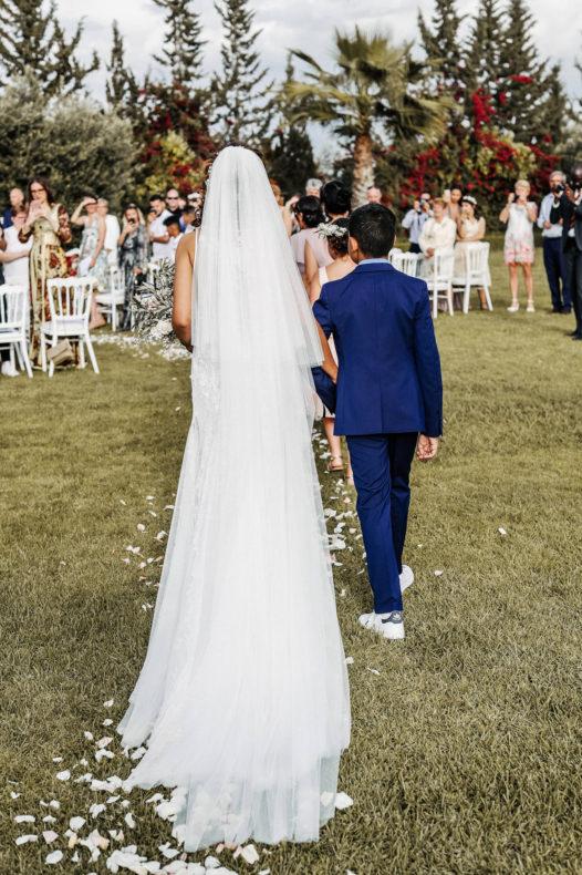 entrée mariée cérémonie laïque marrakech aria