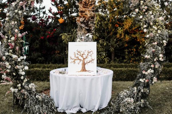 rituel arbre à empreintes ceremonie laique aria marrakech officiant
