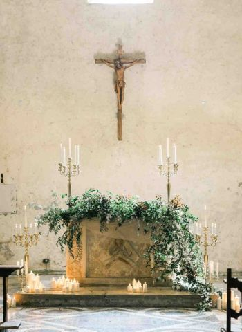 church wedding ceremony in France aria