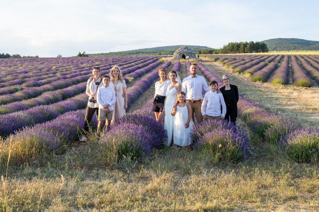 elopement en Provence mariage intime lavandes lubéron aria
